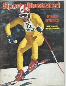 1976 2/16 Sports Illustrated magazine Olympics Franz Klammer NEWSSTAND  w/ stamp
