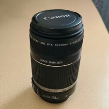 Canon EF-S 55-250mm f/4-5.6 IS Lens Image Stabilizer Telephoto Zoom DSLR MINT
