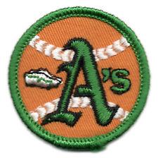 "1970'S OAKLAND A'S ATHLETICS MLB BASEBALL VINTAGE 2"" ROUND TEAM PATCH"