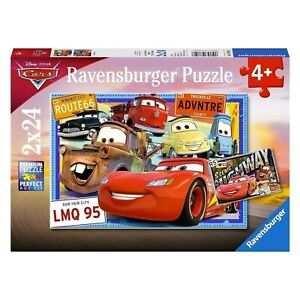 Ravensburger Jigsaw Puzzle 2x24pc - Disney Two Cars Puzzle - 07819-6 Authentic N