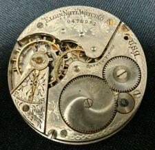 1902 Elgin HC Pocket Watch Movement Grade 210 16s 17j | Parts or Repair 21790