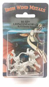 Ral Partha Lion Centaurs (2 Pieces) #01-039 Unpainted Fantasy Metal Figure