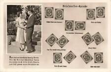 More details for vintage 1950s german stamp postcard, briefmarken sprache, stamp language ph5