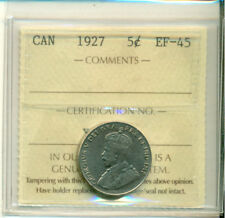 ICCS CAN 1927 5 cents EF-45 Certification No. XJS 499