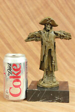 Art Deco Captain Hook Pirate Ship Bronze Sculpture Marble Base Figurine Hotcast