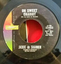 """Jackie de Shannon Liberty 55602 """"OH SWEET CHARIOT / LITTLE YELLOW ROSES""""(R&R) 45"""