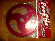 Profile 47t Ripsaw BMX Sprocket Chainwheel Red Old Logo NOS USA Made
