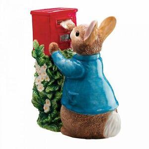 REDUCED Beatrix Potter Peter Rabbit Posting Letter Ceramic Money Box Piggy Bank