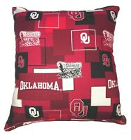 SOONERS Pillow OU Pillow 2020 NCAA  University of Oklahoma Pillow Handmade USA