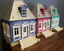 CUSTOM PLAYMOBIL VICTORIAN COTTAGES-5955 5300-CHOOSE W/FURNITURE OR YOUR DESIGN!