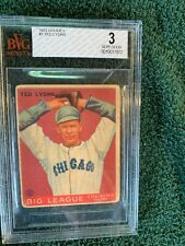 1933 Goudey Ted Lyons # 7 Graded Very Good BvG 3