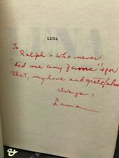 LENA HORNE inscribed first edition of LENA