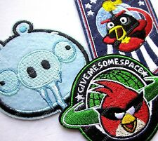 H&M angry birds space icy pig embroidery iron on patch 3pc set