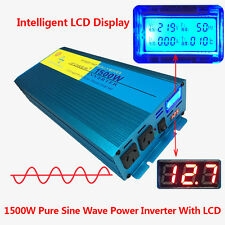 New LCD Pure Sine Wave Inverter 1500W / 3000W 12V - 240V Power Boat Car Caravan