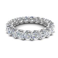 Women's Round Cut 2.00 Ct 950 Platinum Real Diamond Eternity Band Size L M N 1/2