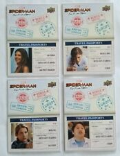 Upper Deck UD Marvel Spiderman Far From Home Venice 4-Card Travel Passports 2020