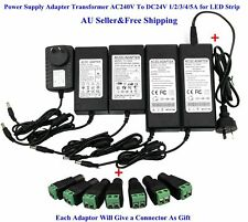 New AC 110V To DC 24V 6A 144W  Power Supply Adapter Transformer for LED Strip US