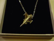 """Saab JAS 39 Gripen c78 Aeroplane On a 24"""" Silver Plated Curb Chain Necklace"""