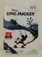 Nintendo Wii Disney Epic Mickey Mint Complete Fast Free Postage