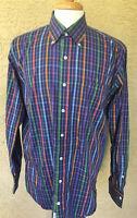 Men's Peter Millar Weekender Finish Long Sleeve Button Front Shirt Size L