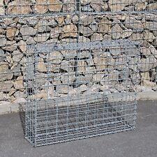 2 St. Gabione 100x80x20 cm Steingabionen Steinkorb Gabionen Wand Drahtkorb 5x10