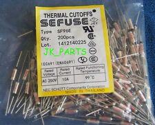 200pcs SF96E SEFUSE Cutoffs NEC Thermal Fuse 99°C Celsius Degree 10A 250V