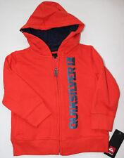 Quiksilver 18 M Hoodie Zip Sweatshirt Jacket Fleece Boys Orange NWT FREE