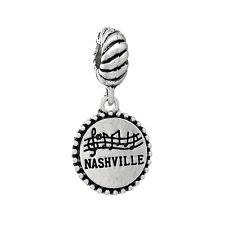 """""""Nashville State"""" Charm Bead Spacer for Snake Chain Charm Bracelets 2735"""