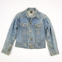 Lee Vintage 60's Sanforized Denim Trucker Jean Jacket USA Union Made XS?