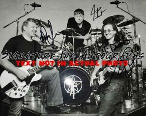 RUSH band Signed Autographed 8x10 Photo by Geddy Lee, Alex Lifeson & Neil Peart