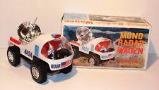 Louis Marx Toys 1968 MOND-RADAR-WAGEN NASA alt Mond-Auto OVP Fahrzeug Batterie