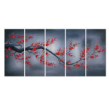 Canvas Print Painting Picture Photo Home Decor Wall Art Plum Flower Tree Framed