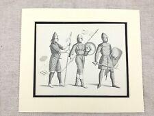 Vintage Tenue Imprimé Norman Conquest Soldat Militaire Knight Armure Casque