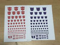 Transformers G1 Decepticons /Autobots 90+ Symbol Sticker Decal for Custom COOL