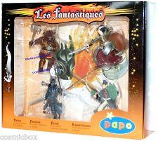 Coffret FIGURINES PAPO le Minotaure Chevalier Elfe figures lot les FANTASTIQUES