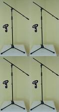 4 x ADAM HALL Mikrofon-Ständer ECO & Mikrofon-Klemme, Galgen Mikrofon-Stativ NEU