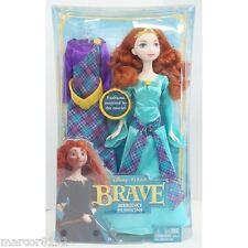 Disney Princess Pixar Brave Merida Doll W/ 2 Fashions Dresses Outfit New