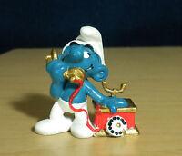 Smurfs Telephone Smurf 20062 Vintage Figure 1980 Schleich Peyo PVC Toy Phone Lot