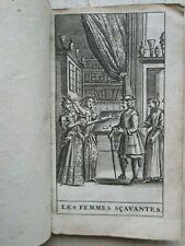 MOLIERE : LES FEMMES SCAVANTES, comédie. Amsterdam, 1692.