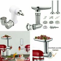 Steel Meat Grinder Food Slicer Chopper Attachment Kit For KitchenAid Stand Mixer
