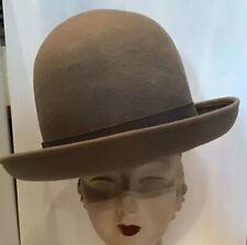Giorgio Armani Hat Vintage Nos Beige Wool Oversized 5 Gallon   Westwood Style 10