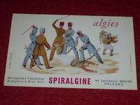 [ART & PUBLICITE, COLLECTIONS] BUVARD ANCIEN / SPIRALGINE Labo SERVIER Supplice