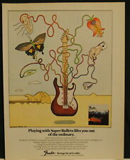 1978 Fender Super Bullets guitar strings print art Ad