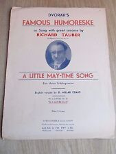 Vintage Voice and Piano Music Sheet, A Little May-Time Song , Richard Tauber