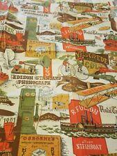 Vintage Curtain Material pioneer Edison antique