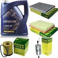 Inspektionspaket MANN Filter Set MANNOL 10W40 Motoröl+ Opel Zafira A 64016633