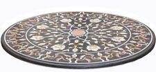 "36"" Marble Patio Table Top Precious Handmade Home Decor Arts"