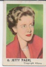 N°6 JETTY PAERL CHANTEUSE CHANTEUR SINGER Vocalist Dulcet IMAGE CHROMO CARD 40s