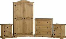 Unbranded Pine Bedroom Furniture Sets with 4 Pieces