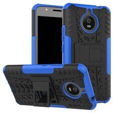 Hybrid case 2 pzas. outdoor azul bolso funda para motorola moto e4 plus cover
